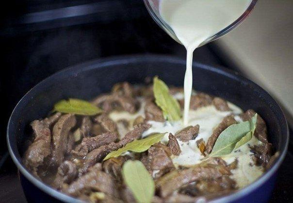 Рецепты из мяса со сливками